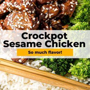 crockpot sesame chicken pinterest collage