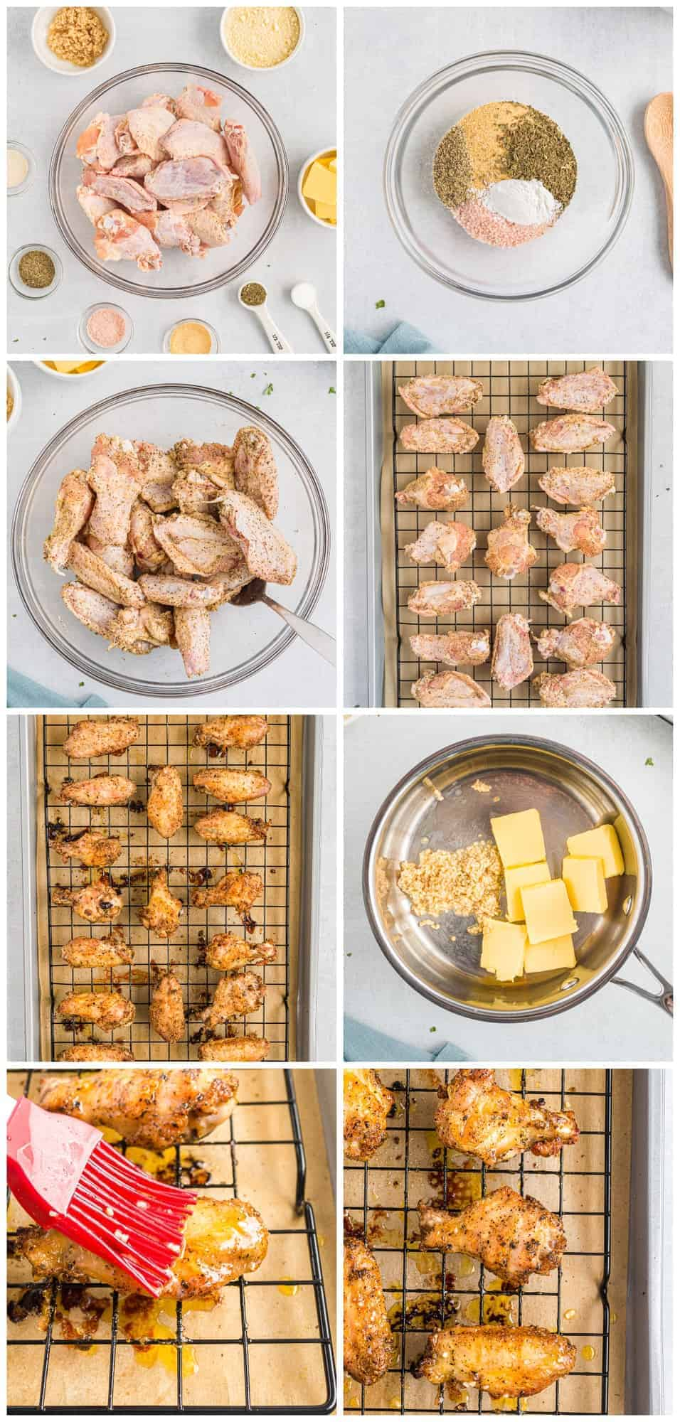 how to make garlic parmesan chicken wings