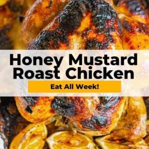 honey mustard roast chicken pinterest collage