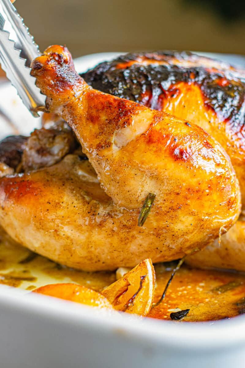 honey mustard roast whole chicken