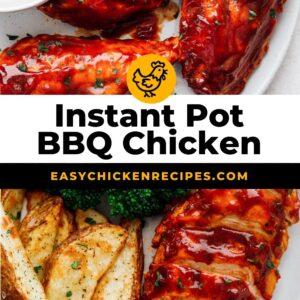 instant pot bbq chicken pinterest collage