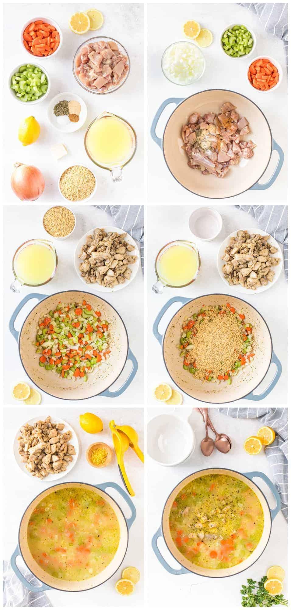 how to make lemon orzo chicken soup