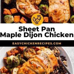 maple dijon chicken pinterest collage