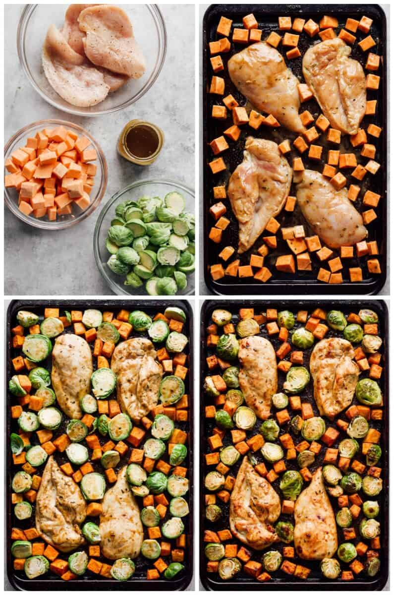 how to make sheet pan maple chicken