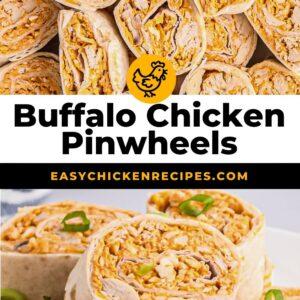 buffalo chicken pinwheels pinterest collage