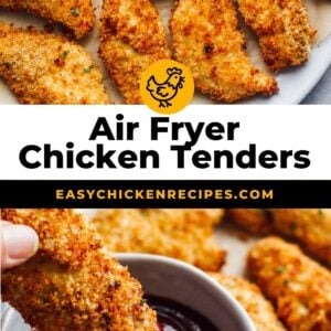 air fryer chicken tenders pinterest collage