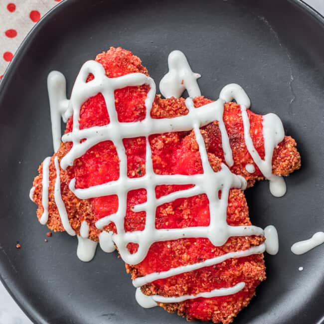 flamin' hot chicken tenders drizzled with ranch