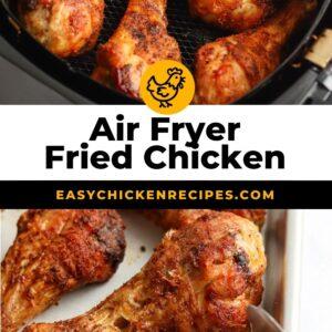 air fryer fried chicken pinterest collage