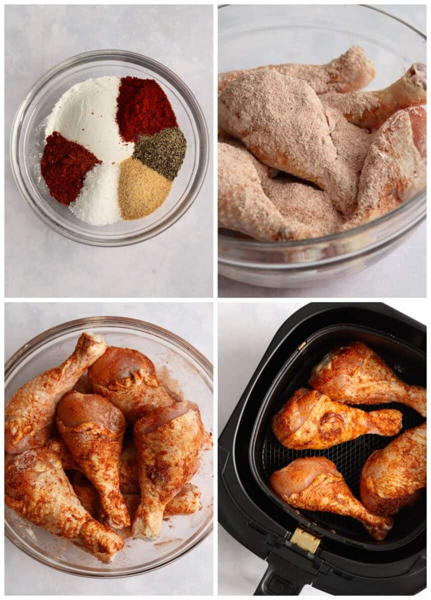 step by step photos of how to make air fryer fried chicken