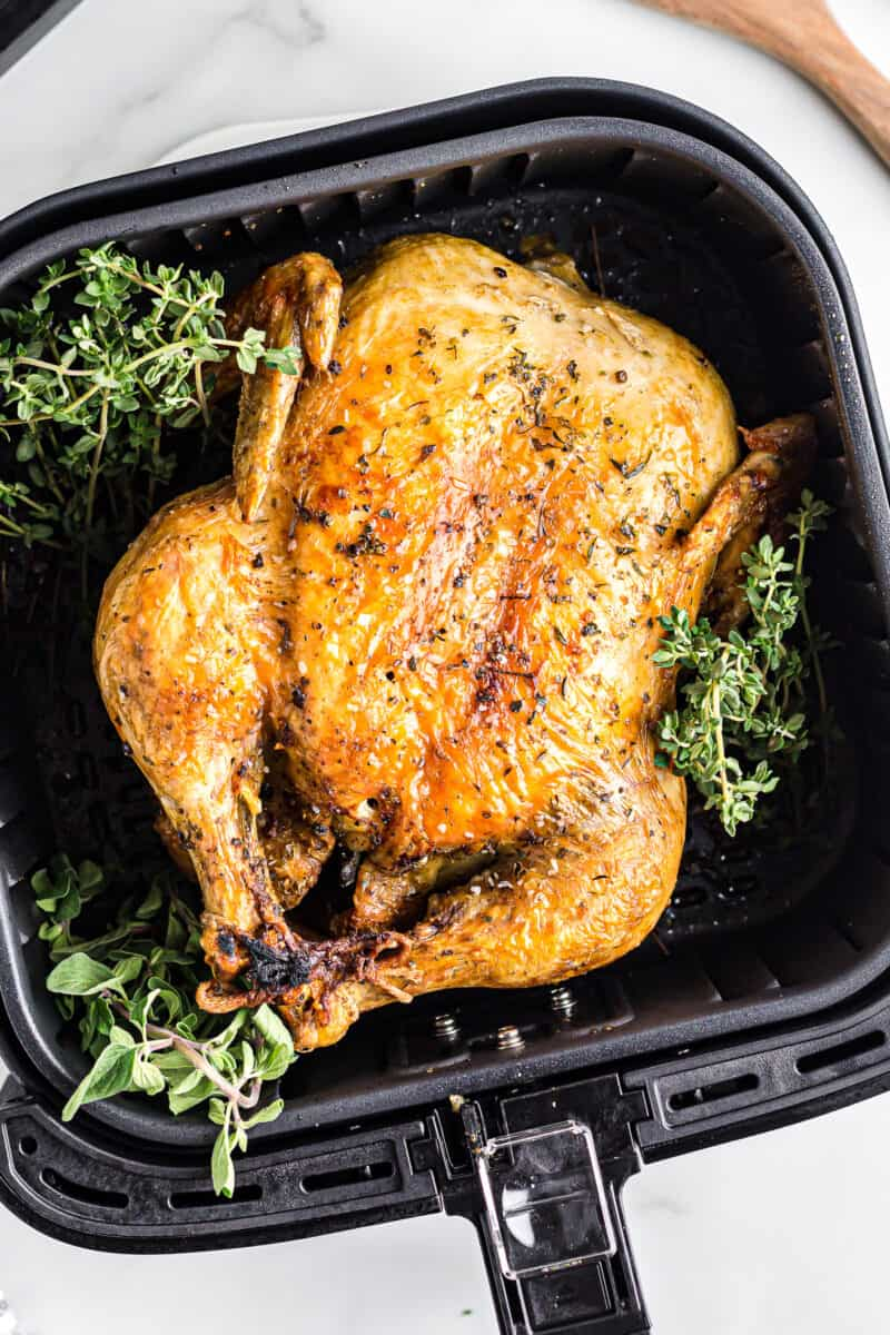 air fryer whole chicken in instant pot with herbs