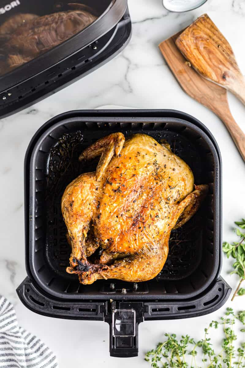 air fryer whole chicken with herbs