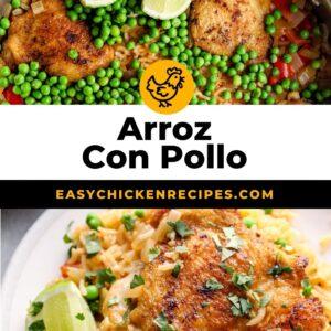 arroz con pollo pinterest collage