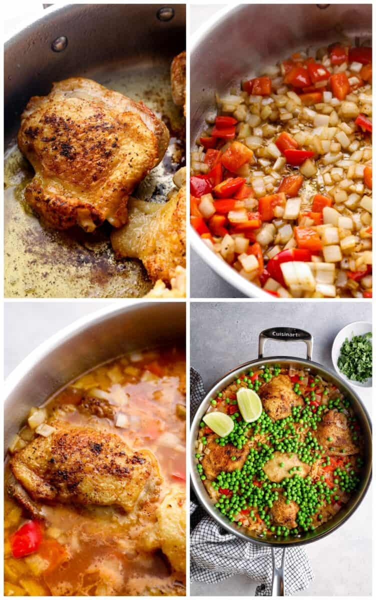 step by step photos for how to make arroz con pollo