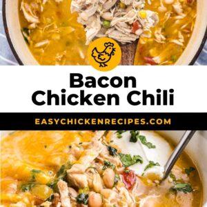 bacon chicken chili pinterest collage