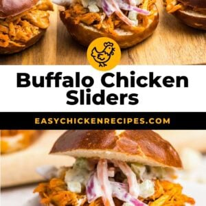 buffalo chicken sliders pinterest collage