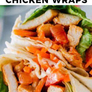 buffalo chicken wraps pinterest collage