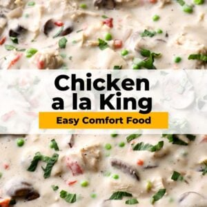 chicken a la king pinterest collage