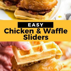 chicken and waffle sliders pinterest collage