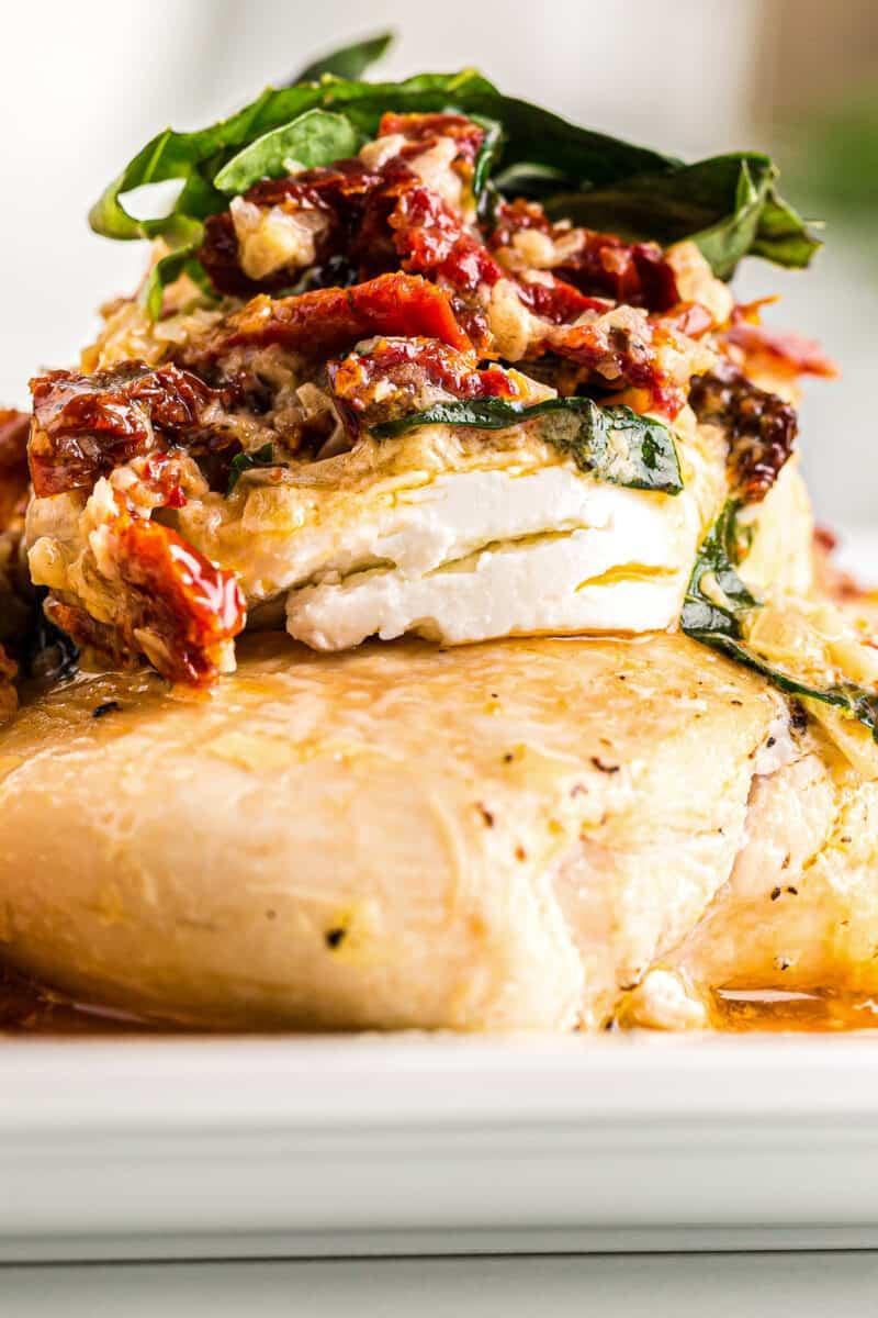 up close image of chicken bryan copycat recipe