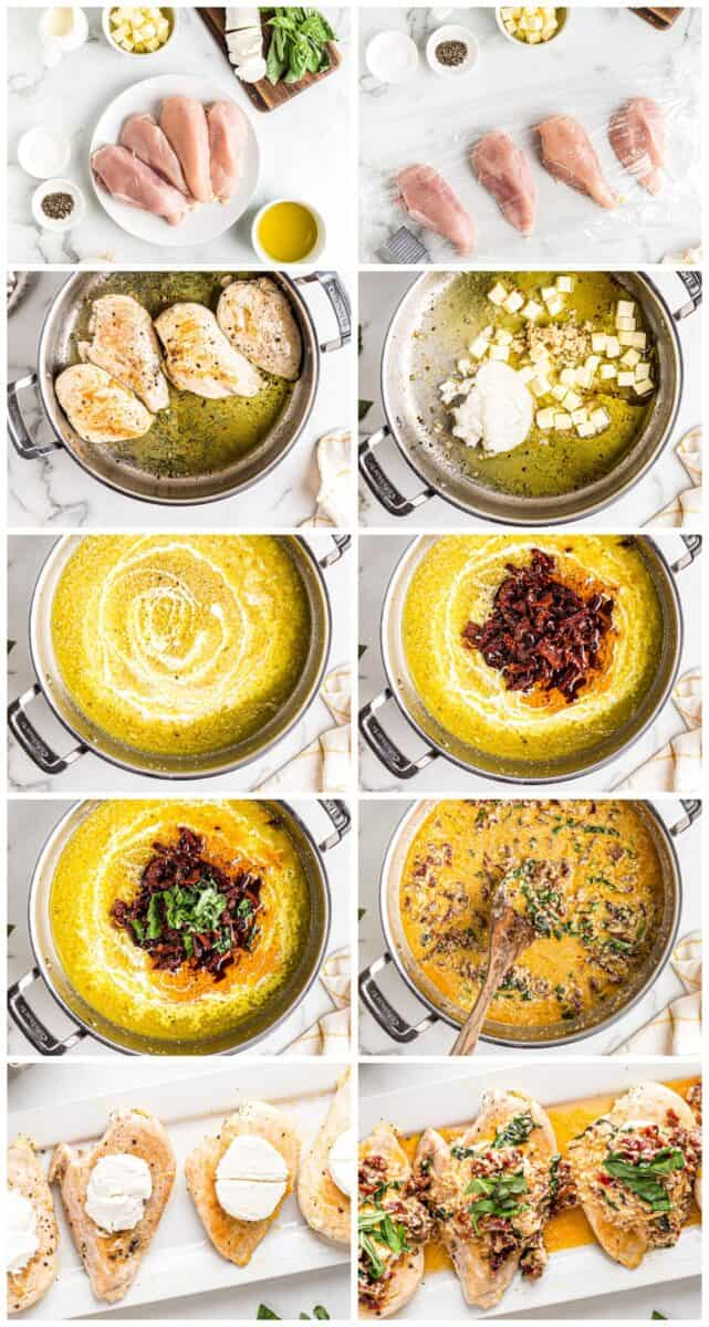step by step photos of how to make chicken bryan