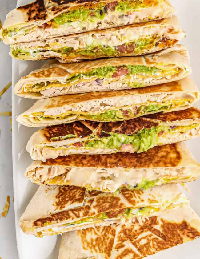 chicken crunchwrap supremes on platter