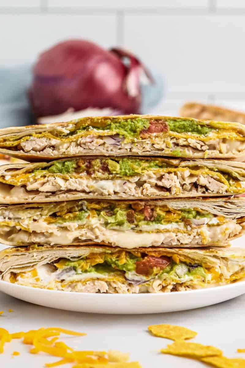 4 halves of taco bell chicken crunchwrap supreme recipe