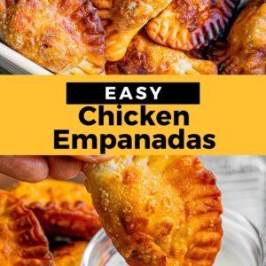 chicken empanadas pinterest collage