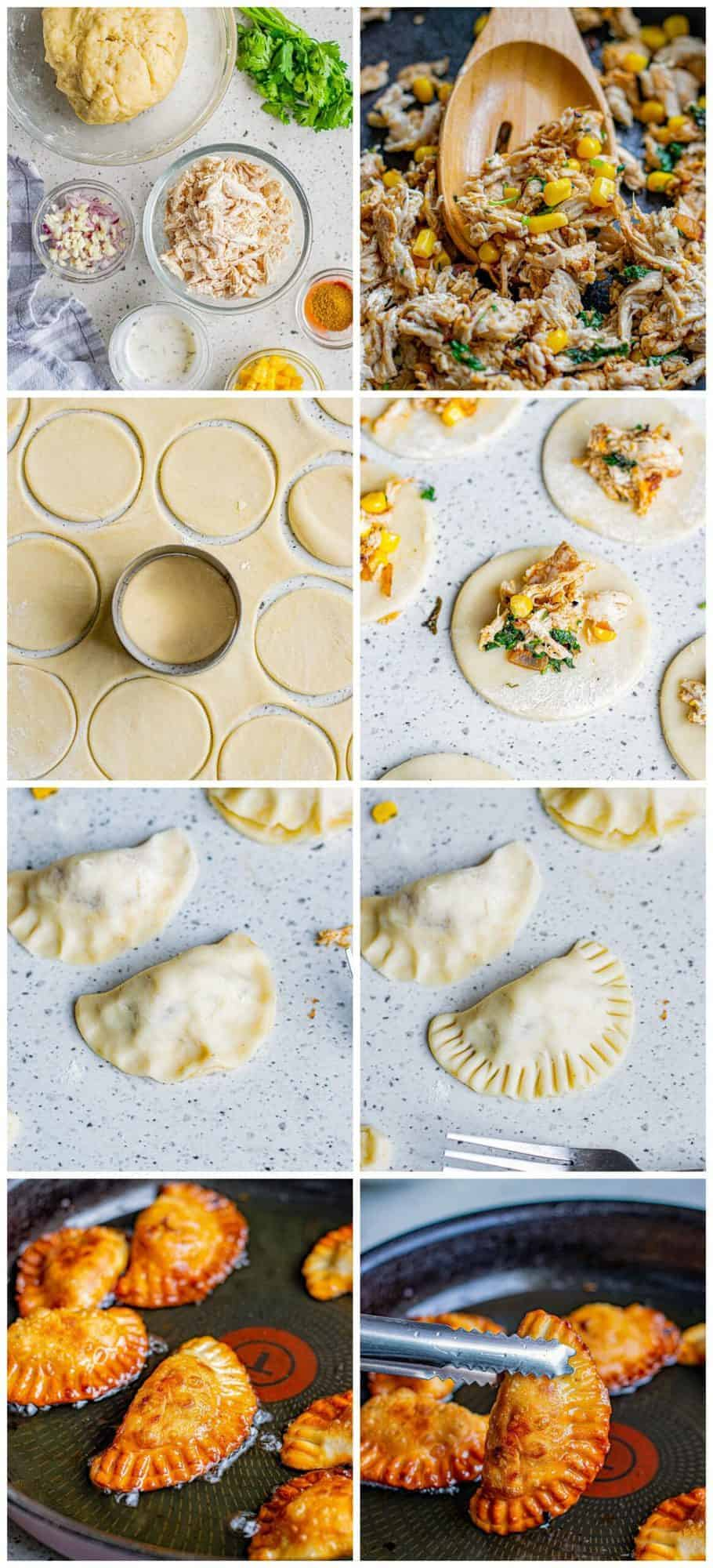step by step photos for how to make chicken empanadas