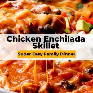 chicken enchilada skillet pinterest collage
