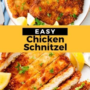 chicken schnitzel pinterest collage
