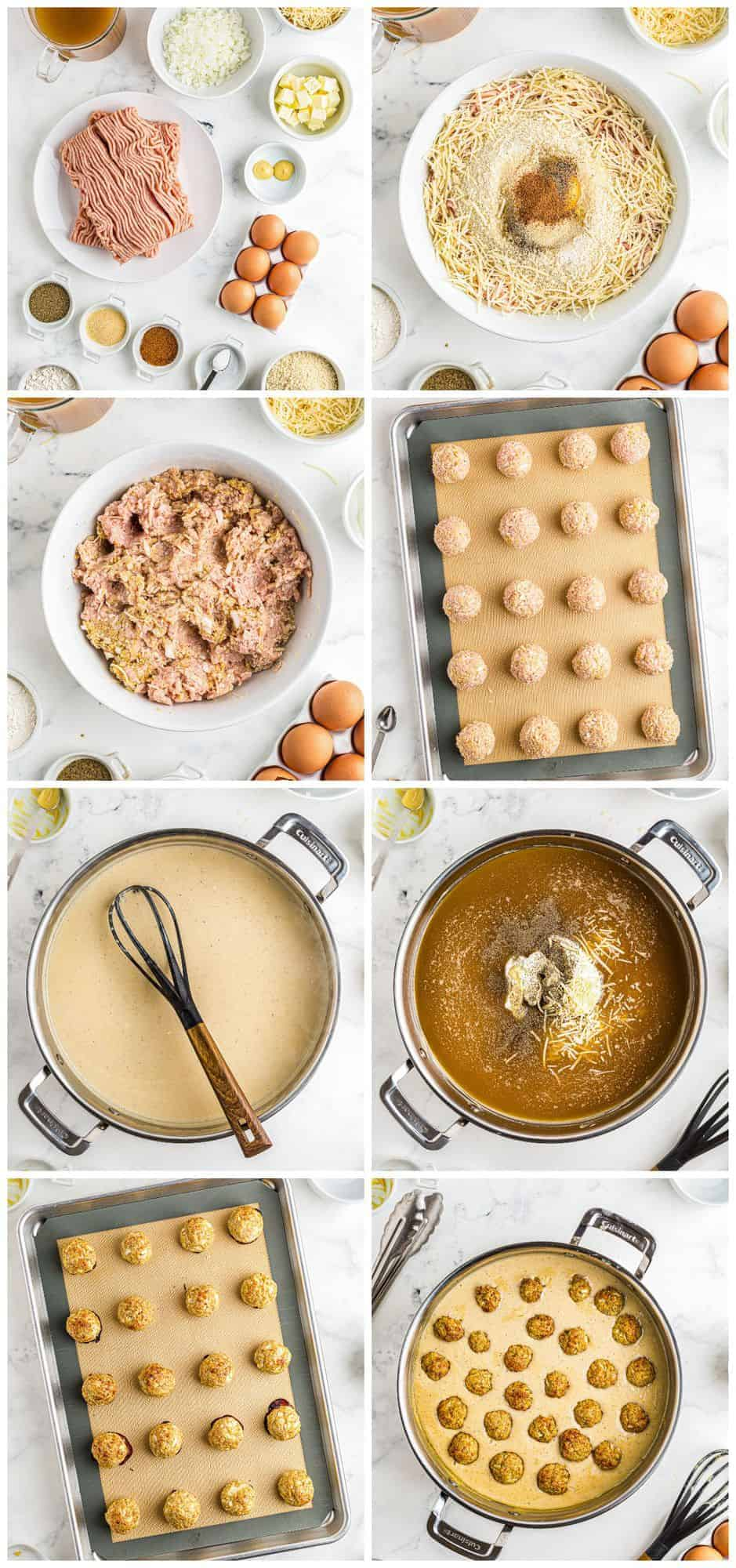 step by step photos for how to make chicken swedish meatballs