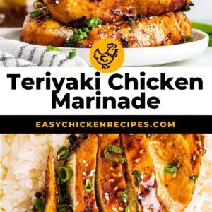 chicken teriyaki marinade pinterest collage