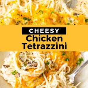 chicken tetrazzini pinterest collage