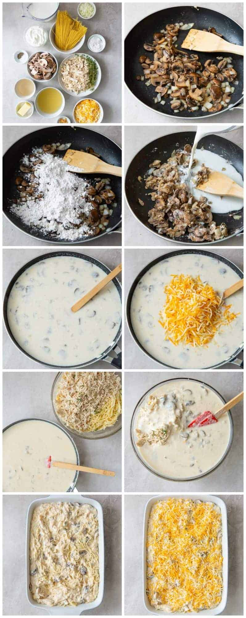 step by step photos for how to make chicken tetrazzini
