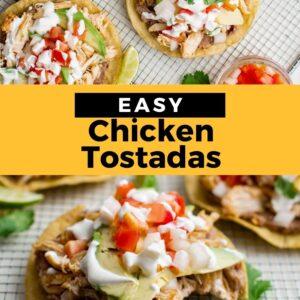 chicken tostadas pinterest collage