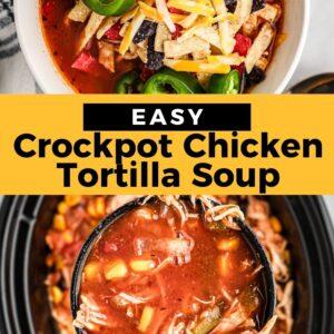 chicken tortilla soup pinterest collage