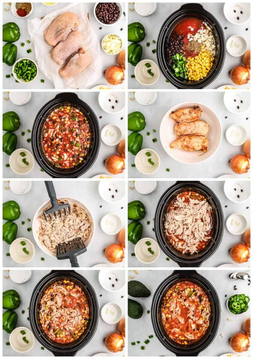 step by step photos for how to make chicken tortilla soup