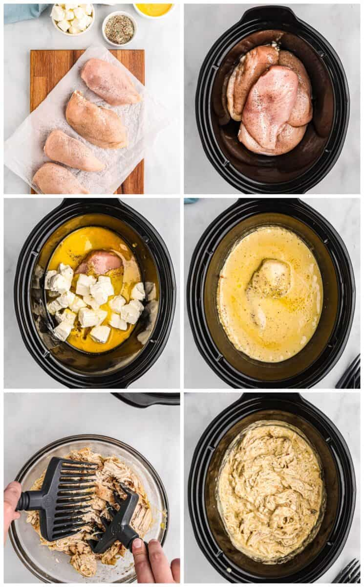 step by step photos for how to make crockpot italian chicken