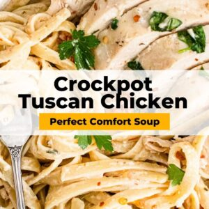 crockpot tuscan chicken pinterest collage