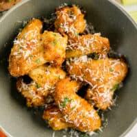 featured air fryer garlic parmesan wings