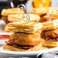 featured chicken and waffle sliders