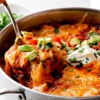 featured chicken enchilada skillet