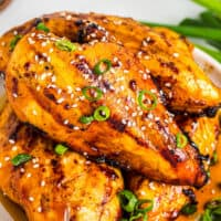featured grilled chicken teriyaki breasts with teriyaki marinade