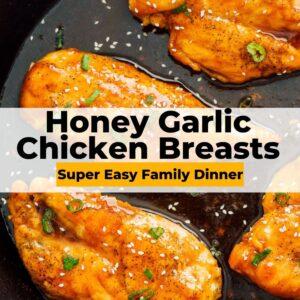 honey garlic chicken breasts pinterest collage
