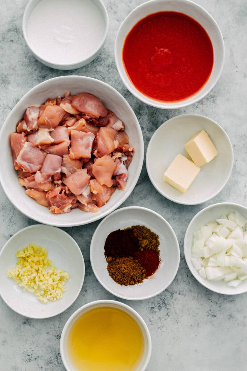 ingredients for instant pot butter chicken