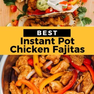 instant pot chicken fajitas pinterest collage
