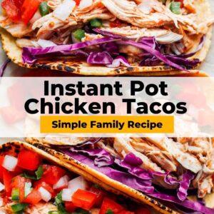 instant pot chicken tacos pinterest collage