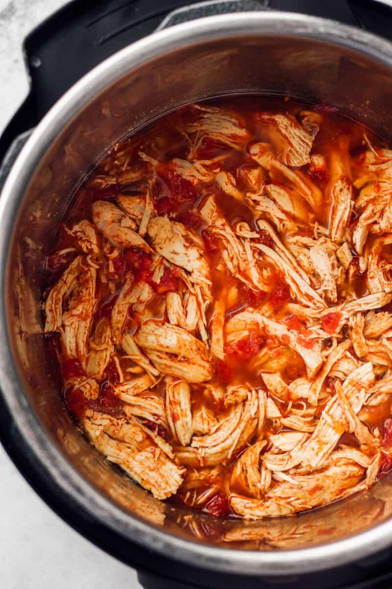 instant pot chicken tacos in instant pot