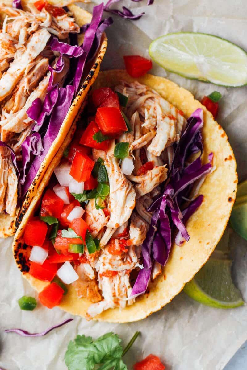 open instant pot chicken taco