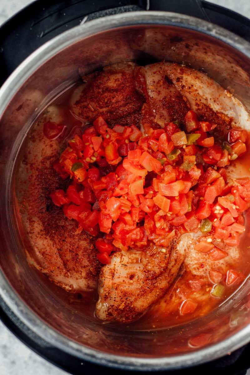 ingredients for chicken tacos in instant pot
